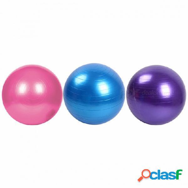 Bola de la yoga de la salud de la aptitud del 45cm, utilidad antideslizante pilates yoga de la bola del ejercicio del gimnasio de la yoga del equilibrio para el entrenamiento de la aptitud pú