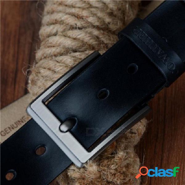 Cinturón de hombre vaca cuero genuino correa de lujo cinturones masculinos para hombres cinturón de piel de vaca clásico con hebilla vintage