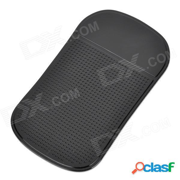Cojín anti del resbalón de la estera de la araña-resbalón del coche del vehículo de la pu para el teléfono móvil / mp3 / mp4 + más - negro
