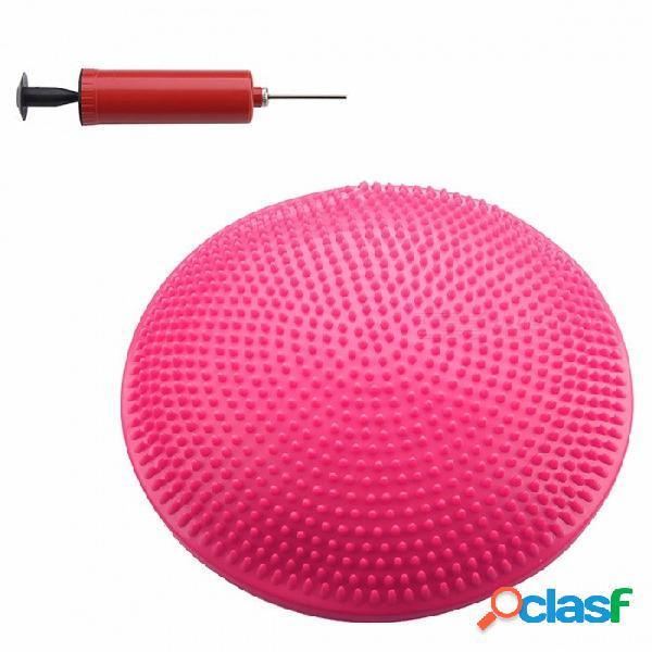Disco flexible estupendo del equilibrio de la estabilidad del yoga antideslizante, cojín del amortiguador de aire de la rodilla del tobillo de la rodilla del ejercicio del gimnasio marrón