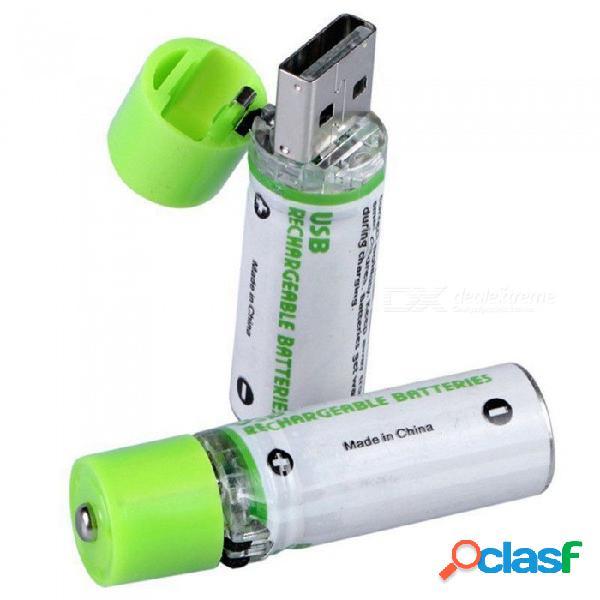 Esamact alta calidad usb aa batería, 1.2v 1450mah ni-mh batería recargable w / led indicador de carga