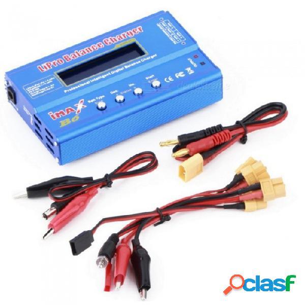 Imax b6 cargador de balance de batería li-po digital + adaptador de corriente de 12v 5a + cable de alimentación de enchufe de la ue