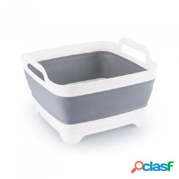 Lavado de plástico vegetal cesta de frutas plegable portátil creativo camping pesca cocina baño limpieza herramientas accesorios al aire libre de plástico