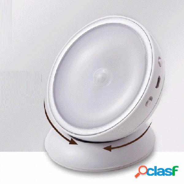 Sensor de energía usb recargable led luz nocturna magnético creativo cuerpo sensor de movimiento inalámbrico mini led lámpara auto encendido / apagado blanco / blanco