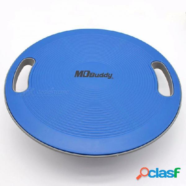 Universal portátil de yoga de la aptitud pilates media bola placa del tablero del entrenador de equilibrio, rodilleras hogar equipo de gimnasio azul