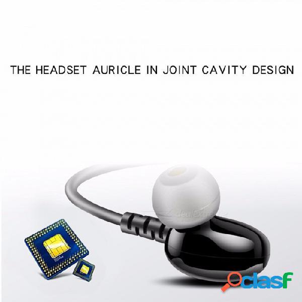 W1b auriculares de música en la oreja de 3,5 mm con cable auriculares estéreo auriculares para teléfono manos libres con micrófono y control de volumen negro
