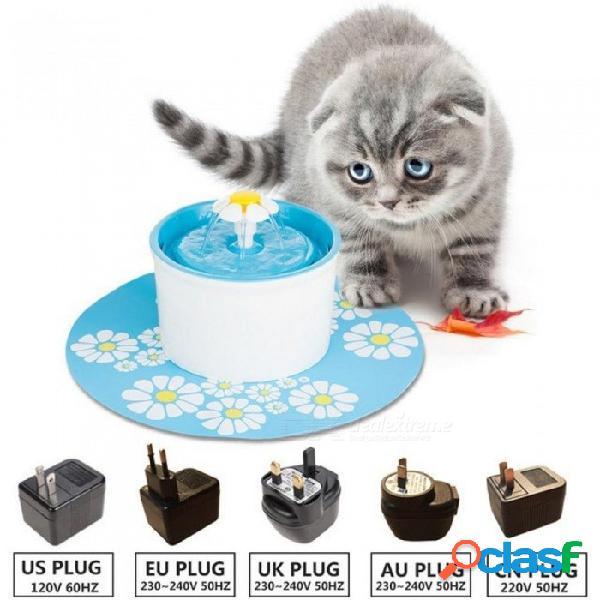 110/220 v gato eléctrico fuente para mascotas 1.6l automático perro gato alimentador de agua recipiente para beber bebida para mascotas gato dispensador de agua azul verde ee. uu. enchufe