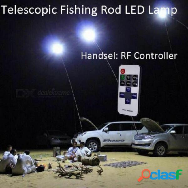 12v 4m telescópicas caña de pescar luces led para acampar al aire libre luces de la calle móviles noche viajes por carretera blanco