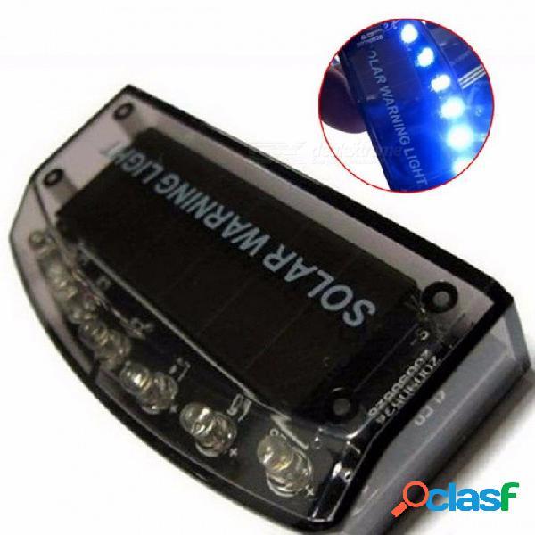 1pc 6led auto cargador solar alarma antirrobo sensor de la lámpara sensor de luz de advertencia de seguridad