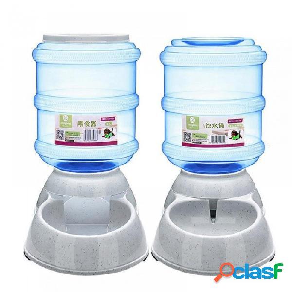 3.5l alimentador automático de mascotas vajilla de gran capacidad perros gatos alimentador recipiente de comida dispensador animal mascota automático beber agua un tamaño / comida
