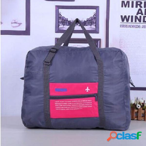 Equipaje de viaje de gran capacidad bolsa de viaje / hombro grandes bolsas plegables bolsa de almacenamiento de ropa organizador zapatos rosa roja