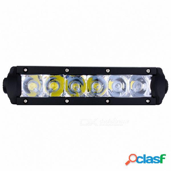Exled 30w fila única punto led barra de luz lámpara de conducción led luz de trabajo ip67 a prueba de agua para automóvil de camión todoterreno atv suv