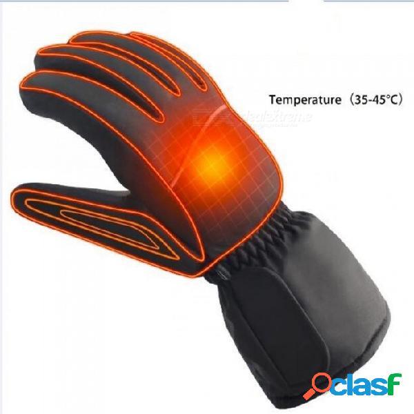 Guantes térmicos eléctricos de 4.5 voltios con guantes calentados por pilas aa para hombres y mujeres con color negro 7-9 / 4.5 voltios sin pilas