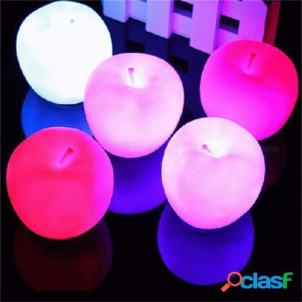 Luz de regalo para la noche de navidad, forma de manzana que cambia de color lámpara led de luz nocturna para la decoración de la fiesta de año nuevo en casa cambiable / blanco