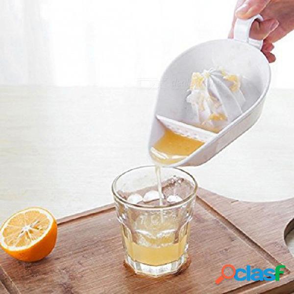 P-top exprimidor manual fruta limón exprimidor accesorios de cocina herramienta de cocina-blanco (18.9x11x5.4cm)