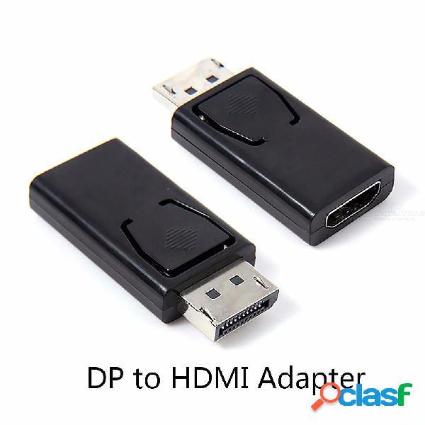 Puerto de pantalla de 20 pines macho a hdmi adaptador hembra convertidor dp a hdmi para 1080p hdtv pc
