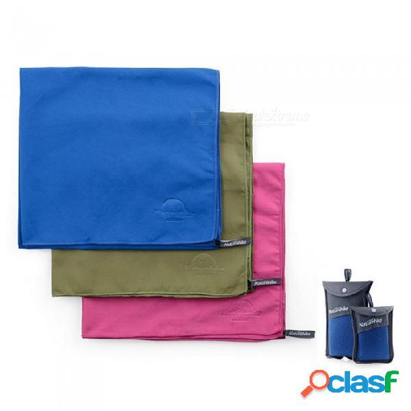 Deportes al aire libre viajan toallas absorbentes de secado rápido con bolsa de malla para gimnasio, deporte, viaje, yoga, camping, azul