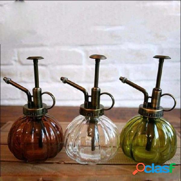 Latas de riego de vidrio vintage / zakka jardinería de agua lata jardín decoración regaderas varios colores opcionales marrón