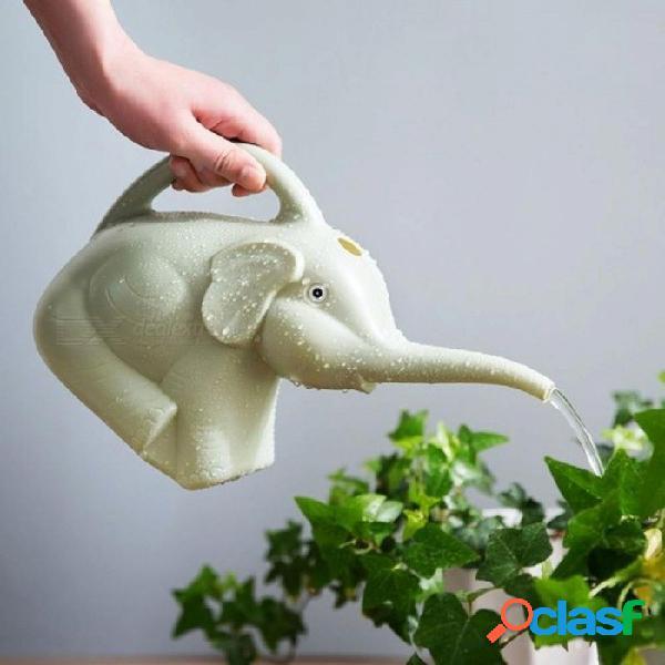 Plástico elefante regadera 2 cuartos de galón 1/2 galón de riego jarra jarra casa jardín patio césped herramienta de jardinería planta exterior riego plástico