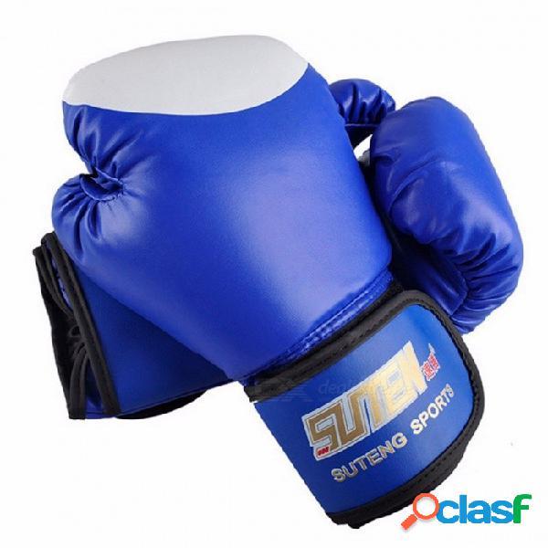 Premium 1 par de equipos de entrenamiento mma pu de cuero guantes de boxeo, patear la lucha contra la bolsa de arena sanda guantes
