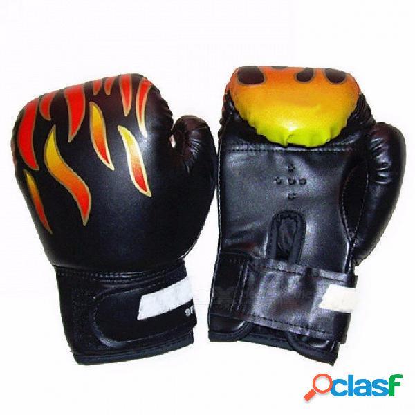 Profesional 1 par llama guantes de boxeo punch para niños niños niños principiantes, sanda sparring guantes de entrenamiento guantes de protección rojo