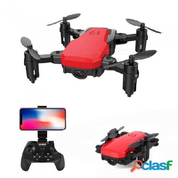 Sg800 rc helicóptero 2.4g 4 canales wi-fi fpv mini rc quadcopter drone de bolsillo plegable con cámara de 0.3mp - rojo