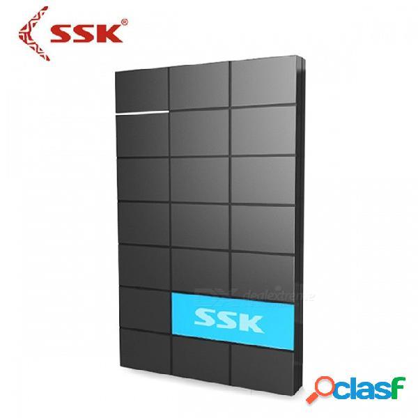 Ssk she080 premium portátil usb 3.0 hdd recinto, 2.5 pulgadas sata puerto serie externo disco duro caja hdd caso negro