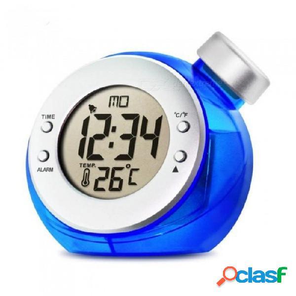 Novedoso reloj de escritorio reloj con alimentación de agua estación de clima inteligente interior / exterior hora temperatura humedad pantalla termómetro reloj a