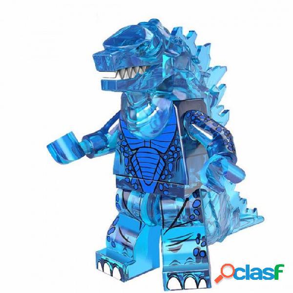 Pg1188 bloques de construcción de ciencia ficción americano monstruo película superhéroes ice lava godzilla alien para niños juguetes cielo azul