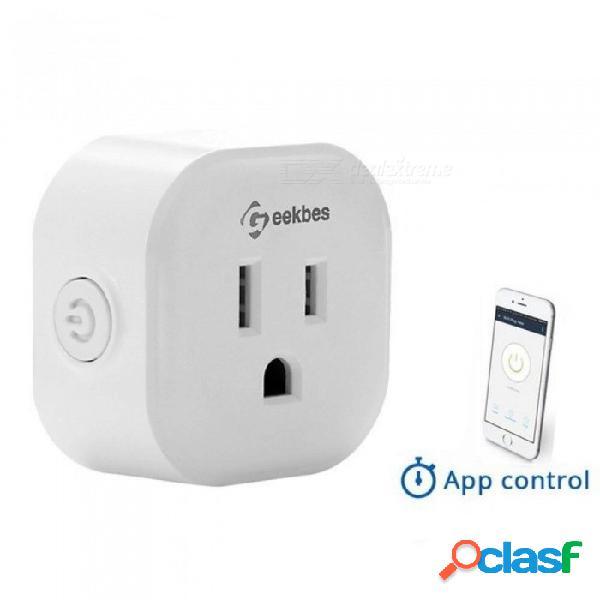 S08 mini control de voz inteligente socket con eco / google inicio wifi mini enchufe app control remoto para android ios estándar 2pcs
