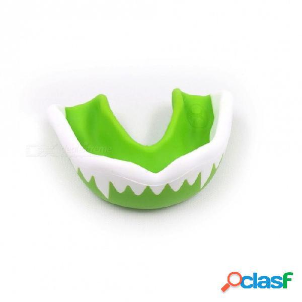 Boca de adulto protector bucal dientes orales proteger deportes de boxeo mma fútbol baloncesto karate muay protector de seguridad e (negro)