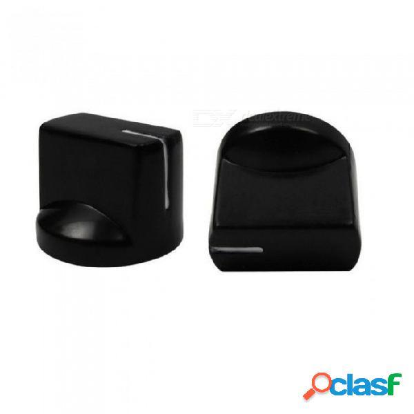 Botones amplificadores de amplificador de efecto de pedal de efecto de bajo de plástico para 50 pcs con color negro 14.5mm altura 50pcs