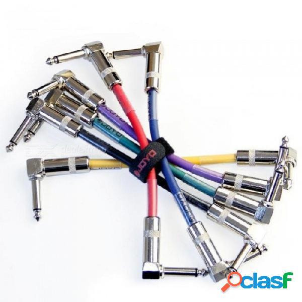 Cable de pedal de efectos para bajo. / 6 pcs por lote con cable colorido de longitud de cable de 10 cm para 6 colores 6pcs / lot