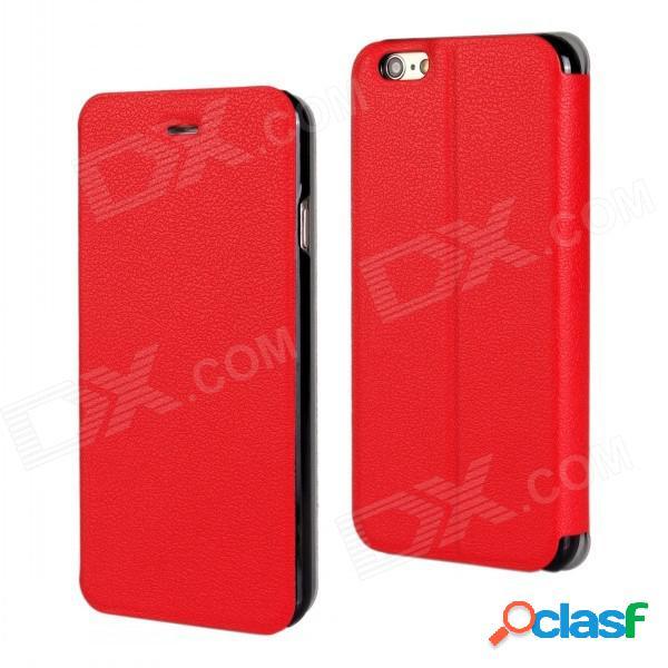 """Cubierta protectora con estilo elegante de la pu leather + pc de la cubierta con el soporte para iphone 6 más 5.5"""" - rojo"""