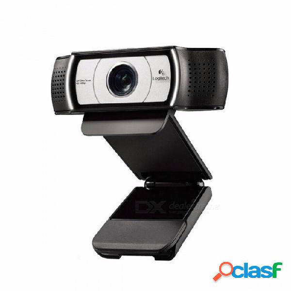 Logitech c930e 1920 x 1080 hd cámara garle zeiss certificación de lente con zoom digital 4time verificación oficial de verificación para usb para pc