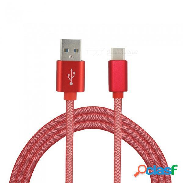 Mini sonrisa 3.4a carga rápida de alta velocidad usb 3.1 tipo-c a cable de transferencia de datos de carga usb 2.0 (1m)