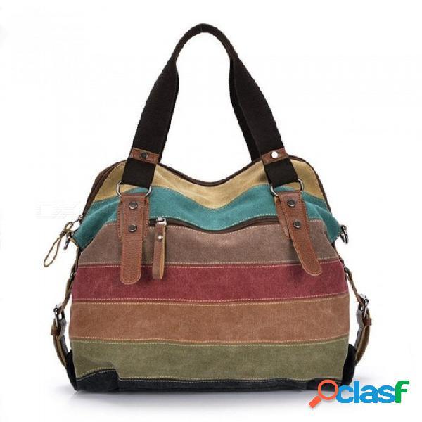 Moda bolsa de lona marca mujeres bolso patchwork casual mujer bolsas de hombro mujer messenger bag ladies tamaño pequeño