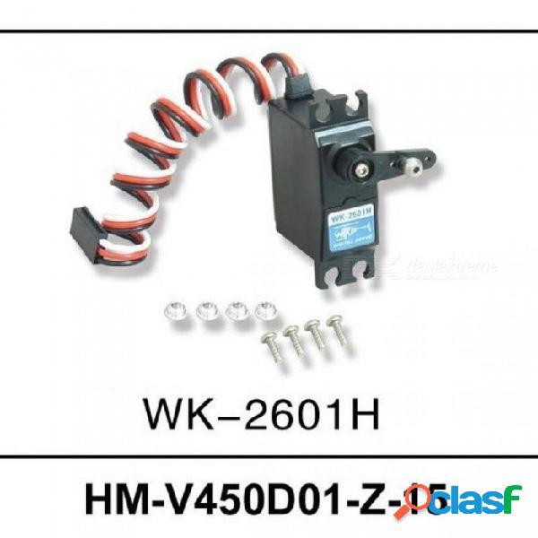 Vehículos & control remoto juguetes helicópteros repuestos hm-v450d01-z-15 cola servo wk-2601h con color negro a