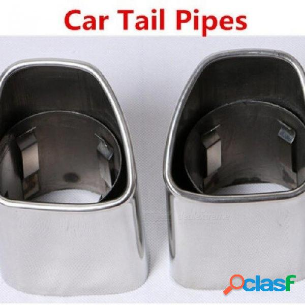 Accesorios para el automóvil de acero inoxidable silenciador de escape automático tubo de escape del tubo de escape del automóvil adecuado para volvo xc90 xc60 punta de silenciador de escape