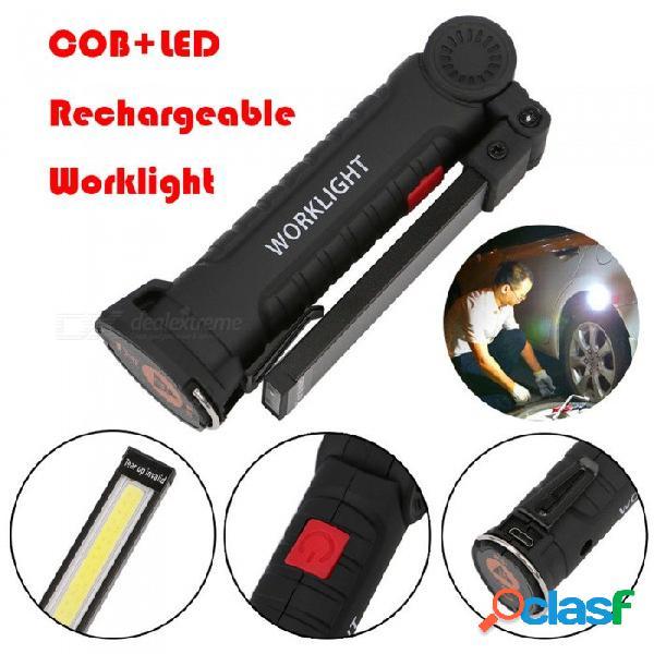 Aibber tone cob led luz de trabajo usb recargable magnética recargable flexible lámpara de inspección luz de trabajo para acampar