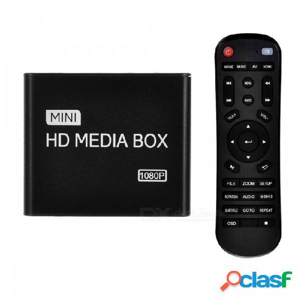 Hd 1080p inicio hdd / car multimedia av / publicidad del jugador w / hdmi cable y cargador de coche - negro