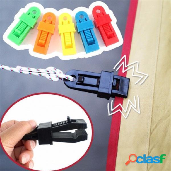 Kit de accesorios de supervivencia al aire libre tiendas de campaña juego de cuerdas clips lona para acampar toldo broche a presión clip 5 unids
