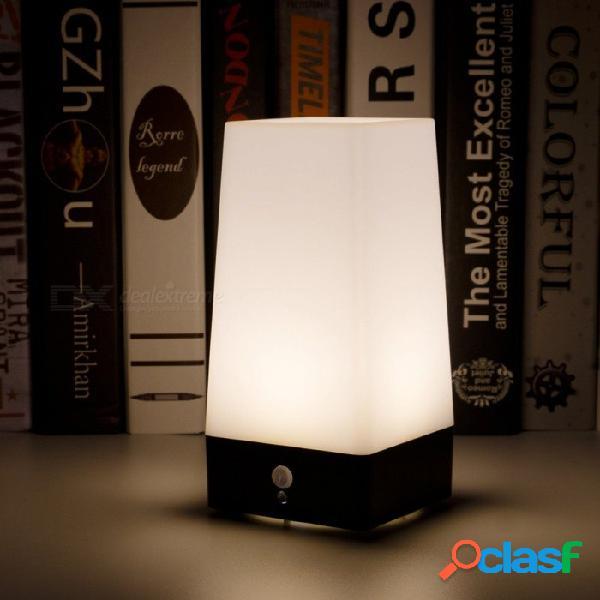 Luz nocturna de emergencia led batería recargable junto a la cama lámpara creativa mesa de noche lámpara de la barra luz cálida blanco / blanco