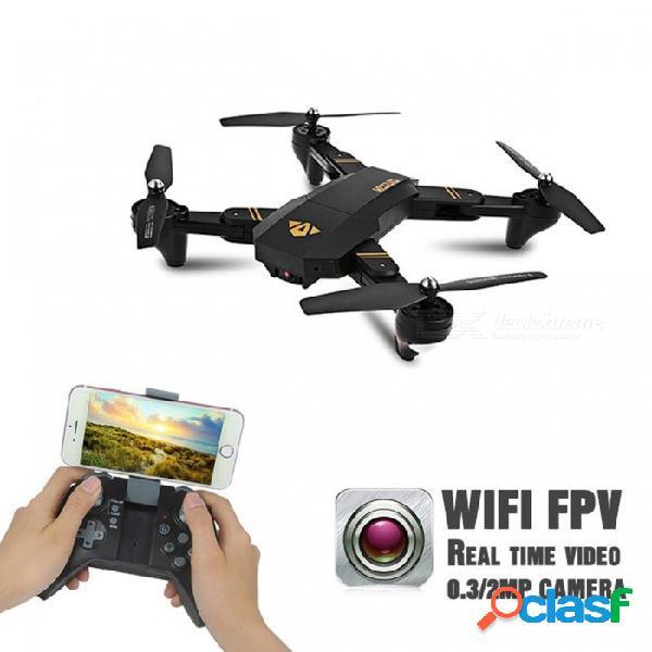Mini drone selfie abejón visuo xs809w xs809hw rc drone con wi-fi fpv 0.3mp o 2mp quadcopter de altitud de cámara vs jjrc h37 negro (200w xs809hw 1b)