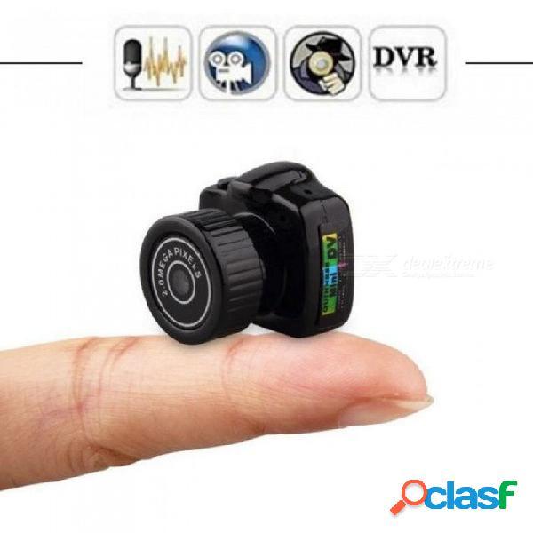 Minicámara pequeña videocámara grabadora de audio y video hd videocámara y2000 dvr dvr secreto de seguridad niñera coche deportivo micro cam con mic cam con tarjeta 8g tf