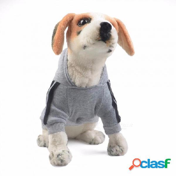 Paño grueso y suave ropa para perros, sudaderas con capucha sudadera deportiva chaqueta de abrigo, ropa de traje con capucha para perros pequeños azul marino xxl