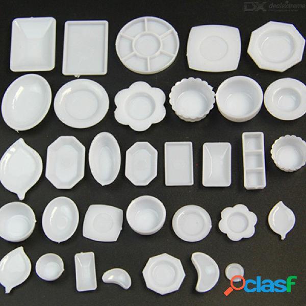 33 unids / set mini mesa de cocina simulación miniaturas taza plato plato decoración juguetes muñeca accesorios para niños