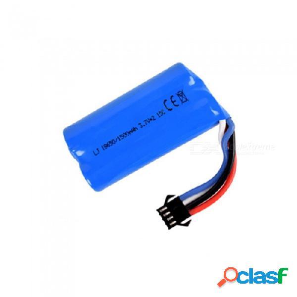 Batería li-ion de 7.4v 1500 mah, batería recargable sm-4p 18650 * 2 para drone de barco de automóvil de control remoto - azul