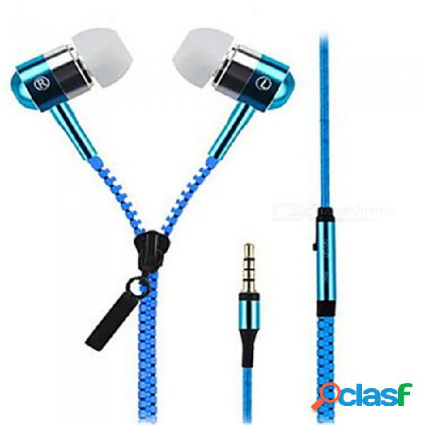 Ojade estéreo en oreja de metal de 3,5 mm con cable para auriculares, auriculares de manos libres con micrófono para reproductor samsung iphone