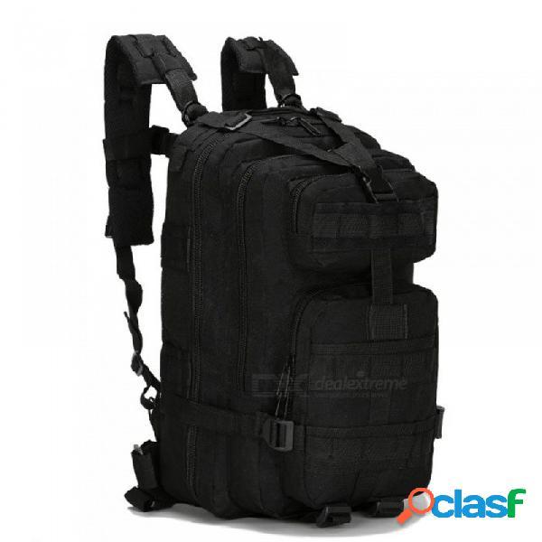 30l al aire libre militar táctico mochila bolso del ejército ejército deporte mochila camping senderismo senderismo camuflaje bolsa negro